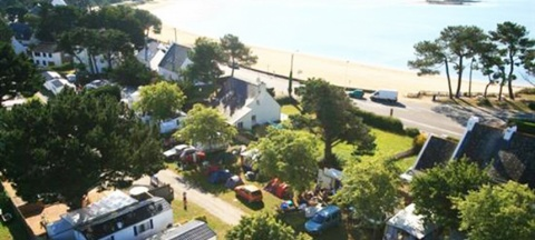 Aerial view to l'Océan campsite in Carnac