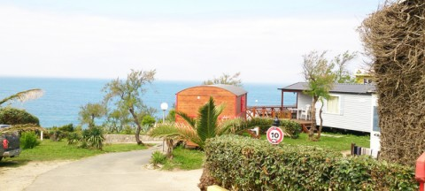 The sites of camping with a sea view