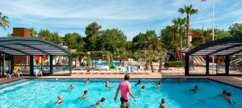 An Aquagym Session At The Campsite The Water Park For Les Sablons Campsite