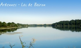 Lac de Bairon campsite by the lake, in Les Ardennes