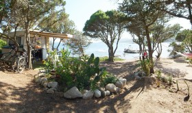 Sea view at La Chiappa campsite in Port Vecchio