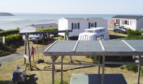 Bellevue Mer campsites with a beautiful sea view