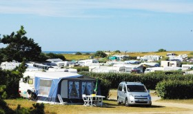 The sites of camping on the dunes