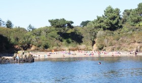 The campsite beach to Le Roz in Brittany
