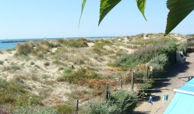 Sea view for Le Paradou campsite with direct access to the beach