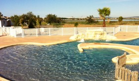 The pool of St Maurice campsite in Palavas-les-Flots