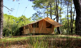 Cottage of La Tama's campsite in Agde