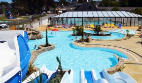 The water park of Longchamp campsite