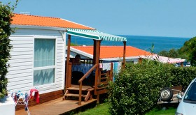 Mobile home with sea view for Camping-Plage Soubelet campsite