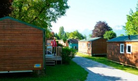 The campsite's mobilhomes