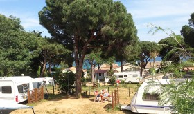 The sites of camping view on sea