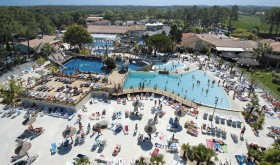 An aerial view of Vieux Port's water park